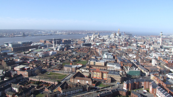 Liverpool view from Anglican Cathedral